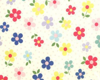 Yuwa cotton fabric Daisy Flowers 819960A