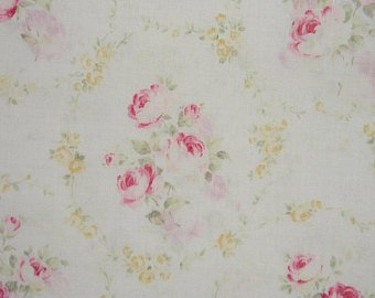 Durham cotton fabric by Lecien 9619W Roses on Light Cream