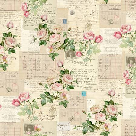 Rosalinda fabric by Michael Miller Antique Rosalinda Floral CX8737-ANTI