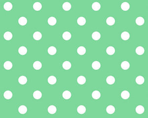 Little World cotton fabric by Quilt Gate LW1904-18B Dots on Green