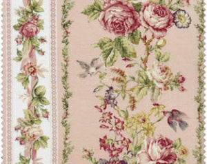 Amelia cotton fabric by Quilt Gate MR2170-12B Rose Stripe Peachy Pink