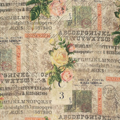 Eclectic Elements cotton fabric by Tim Holtz for Free Spirit PWTH035mult