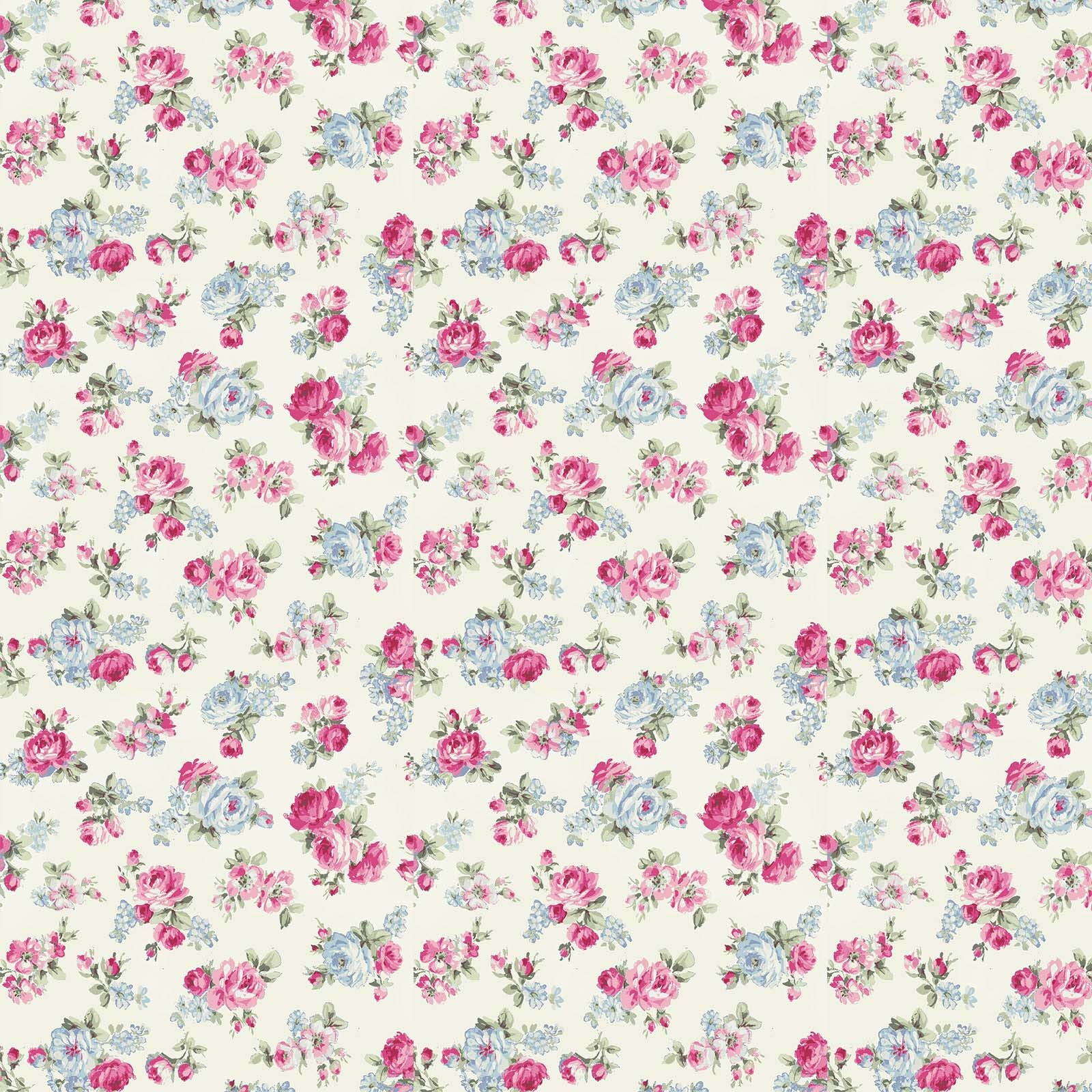 Ruru Rose Bouquet in Paris cotton fabric by Quilt Gate Ru2370-15A Small Roses on Cream