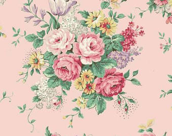 English Rose Garden cotton fabric by Quilt Gate RU2310-11B Pink