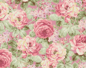 Ruru Prima Ballerina Collection cotton fabric by Quilt Gate Ru2260-11C Roses on Pink