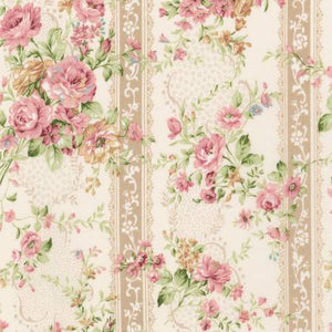 Emma cotton fabric by Robert Kaufman SRK672397 Floral Stripe
