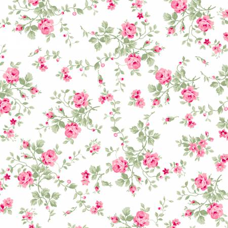 Emma's Garden cotton fabric by Clothworks Y1920-01