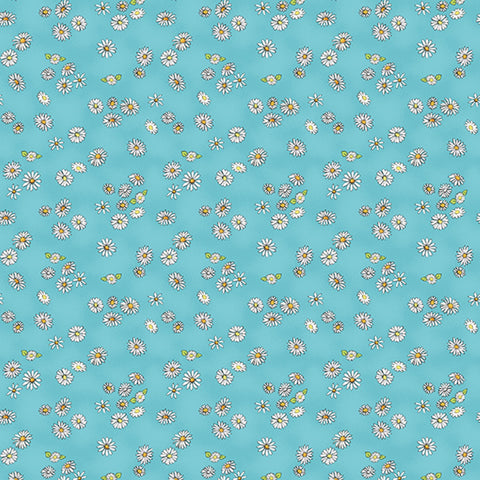 Sky Daisies Daisy Daisy  Cotton Fabric by Clothworks Y2655-98