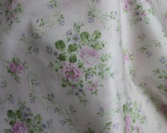 Yuwa cotton fabric  Pale Pink Roses AF816824C