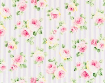 Roses and Stripes cotton fabric by Cosmo AP41701-1E