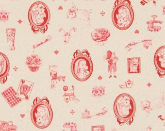 Alice in Wonderland cotton fabric by Cosmo AP42409-1A