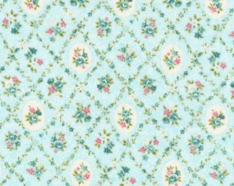Garden Path  cotton fabric by Cosmo AP52311-3B Blue Floral