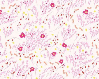 Wee Wanderer cotton fabric by Sarah Jane for Michael Miller DC6230ptl Meandering