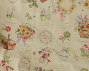Yuwa cotton fabric  Summer Market Flowers FO826111A