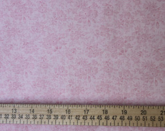 Tone on tone Floral cotton fabric by Lakehouse Dry  Goods Penelope LH11036pink
