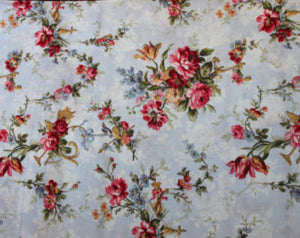 Floral Bouquet Floral cotton fabric by Lakehouse Dry  Goods Penelope LH11037peri