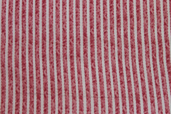 Ribbon Stripe Floral cotton fabric by Lakehouse Dry  Goods Penelope LH11048pink