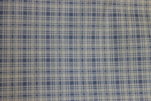 Periwinkle Plaid Floral cotton fabric by Lakehouse Dry  Goods Penelope LH11051peri