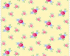 Pam Kitty Picnic cotton fabric by Lakehouse Dry  Goods  LH13018Butter