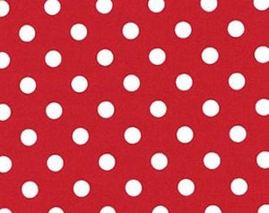 Pam Kitty cotton fabric by Lakehouse Dry  Goods  LH13030 Cherry Big Dot