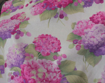 Sausalito Cottage  cotton fabric by Lakehouse Dry   Lh13034pink Hydrangeas