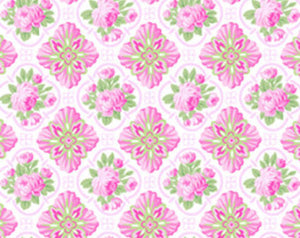 Sausalito Cottage  cotton fabric by Lakehouse Dry  lh13047pink