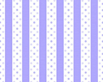 Sausalito Cottage  cotton fabric by Lakehouse Dry  lh13067cornflower  Dotted Stripe