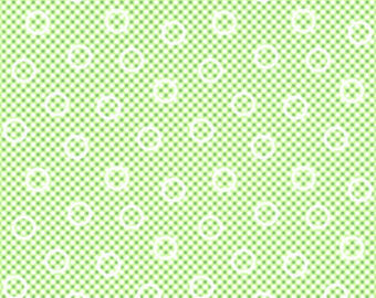 Pam Kitty cotton fabric by Lakehouse Dry  Goods  LH140013lettuce