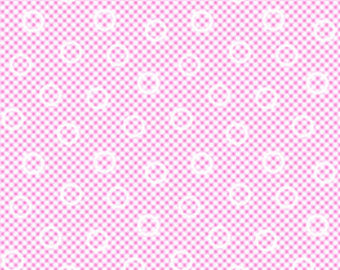 Pam Kitty cotton fabric by Lakehouse Dry  Goods  LH14013petunia