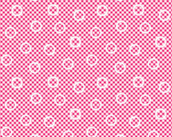Pam Kitty cotton fabric by Lakehouse Dry  Goods  LH14003red
