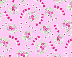 Pam Kitty cotton fabric by Lakehouse Dry  Goods  LH14011petunia