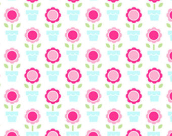 Pam Kitty cotton fabric by Lakehouse Dry  Goods  LH14017aqua