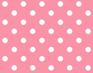 Little World cotton fabric by Quilt Gate LW1909-18A Dot on Pink