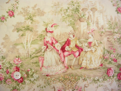 Mary Rose Toile cotton fabric by Quilt Gate MR1100-11c