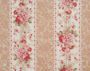 Mary Rose cotton fabric by Quilt Gate MR2030-13a Floral Stripe