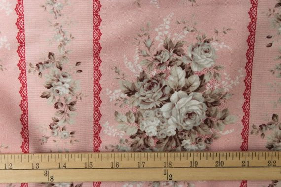 Classic Rose cotton fabric by Quilt Gate MR2060-12A