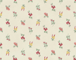 Julia cotton fabric by Quilt Gate MR2180-14A Small Floral on Cream