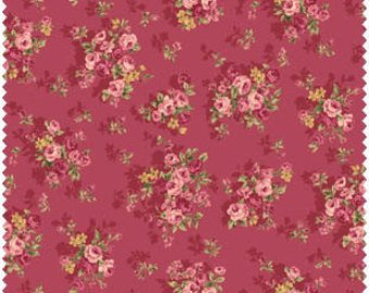 Grace cotton fabric by Quilt Gate MR2140-14D Bouquets on Red