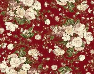 Grace Holiday cotton fabric by Quilt Gate MR2160-11B  Roses on Red