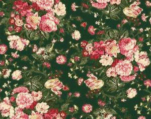 Grace Holiday cotton fabric by Quilt Gate MR2160-11C  Roses on Green