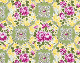 Circa Collection cotton fabric by Free Spirit Fabrics PWJP073-grn