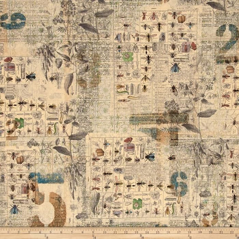 Eclectic Elements cotton fabric by Tim Holtz for Free Spirit PWTH027multi