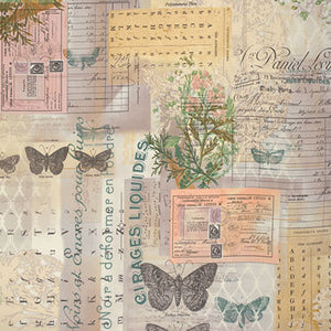 Wallflower cotton fabric by Tim Holtz for Free Spirit PWTH028Multi