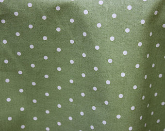 Barefoot Roses  Green Dots cotton fabric by Tanya Whelan for Free Spirit PWTW051green