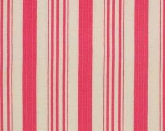 Barefoot Roses  Pink Stripe cotton fabric by Tanya Whelan for Free Spirit PWTW052pink