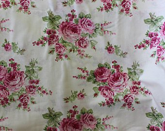 Barefoot Roses  Bouquet White cotton fabric by Tanya Whelan for Free Spirit PWTW053white