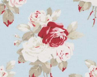 Petal cotton fabric by Tanya Whelan for Free Spirit PWTW055blue