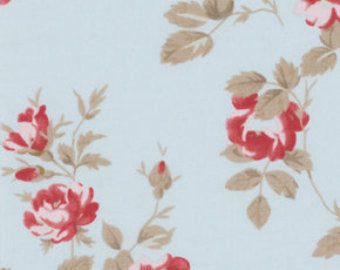 Petal cotton fabric by Tanya Whelan for Free Spirit PWTW058blue
