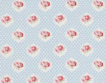 Petal cotton fabric by Tanya Whelan for Free Spirit PWTW059blue