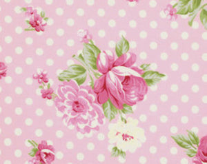 Rosey cotton fabric by Tanya Whelan for Free Spirit PWTW061pink